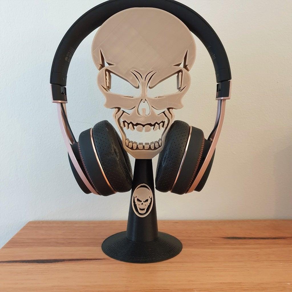 Kafatası Kulaklık Standı